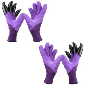 Garden Genie Gloves w/ Claws 2-Pack for $5