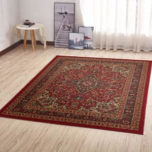 "Ottomanson Ottohome Collection Persian Oriental Design Area Rug, 8'2"" X 9'10"", Red Heriz for $297"