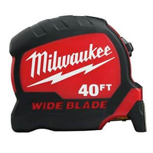 MILWAUKEE 40Ft Wide Blade Tape Measure for $52