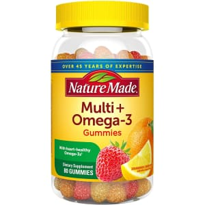 Nature Made Multivitamin + Omega-3 Gummies 80-Count Bottle for $8