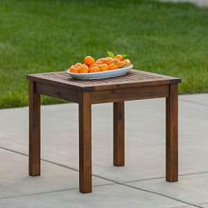 Walker Edison Furniture Company AZWSSTDB Modern Outdoor Patio Wood Side Square End Table All for $77