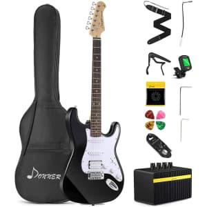 """Donner 39"""" Beginner Electric Guitar Kit for $116"""