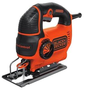 Black + Decker BLACK+DECKER BDEJS600C Smart Select Jig Saw, 5.0-Amp (Renewed) for $27