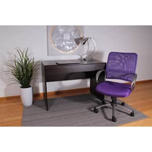 Boss Office Products Mesh Back Task Chair with Pewter Finish in Purple for $100