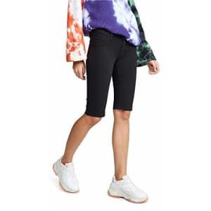 HUDSON Women's Amelia Cut Off Shorts, Black with Raw Hem, 26 for $81