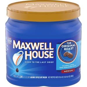 Maxwell House Medium Roast 30.6-oz. Ground Coffee: 3.83 via Sub. & Save