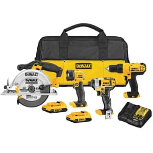 DeWalt 20V Max XR Li-ion Cordless 4-Tool Combo Kit with Saw for $359