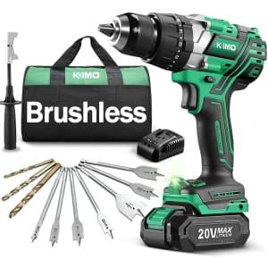 Kimo 20V Brushlesss Hammer Drill for $110
