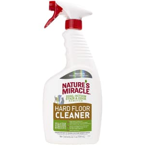 Nature's Miracle Hard Floor Cleaner 24-oz. Bottle for $4