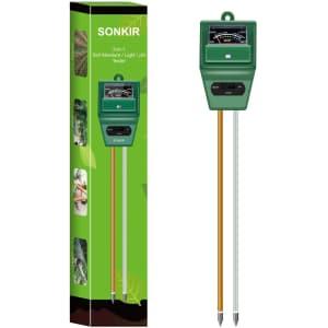 Sonkir 3-in-1 Soil Moisture/Light/pH Tester for $12