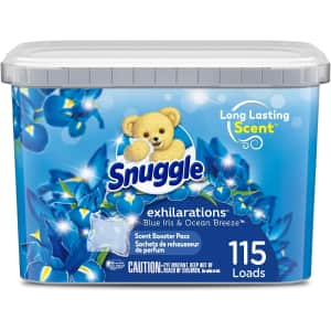 Snuggle Scent Boosters In-Wash Laundry Scent Pacs 115-Count for $12