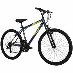 Huffy Hardtail Mountain Bike, Stone Mountain 24 inch 21-Speed, Lightweight, Dark Blue for $276