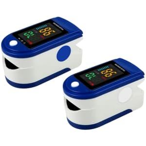 Docona Mini Fingertip Oxygen Meter 2-Pack for $9