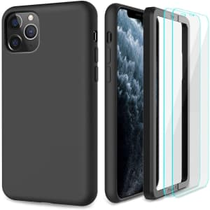 Cyaehm Case w/ 2 Glass Screen Protectors for iPhone 11 Pro for $7