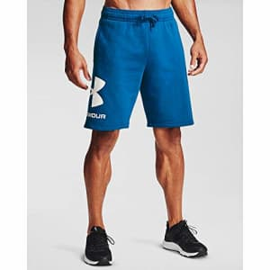 Under Armour Men's Rival Fleece Shorts, Graphite Blue (581)/Onyx White, 4X-Large Tall for $26