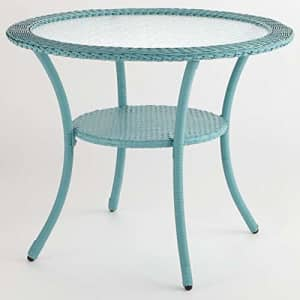 BrylaneHome Roma All-Weather Resin Wicker Bistro Table Patio Furniture, Haze for $222