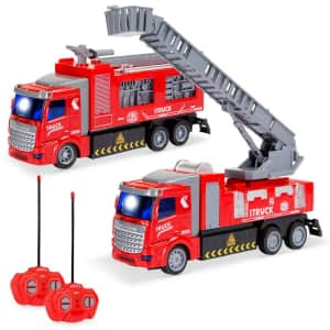Best Choice Products R/C Fire Truck 2-Pack for $20