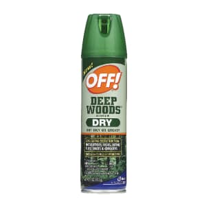 OFF! Deep Woods Insect Repellent Dry 4-oz. Spray Can for $2.99 for Ace Rewards members