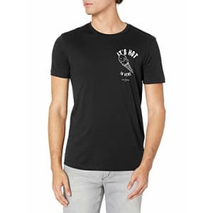A|X Armani Exchange Men's Graphic T-Shirt, Navy It's hot, X-Large for $23