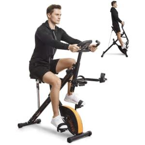 Urevo 3-in-1 Stationary Exercise Bike for $160