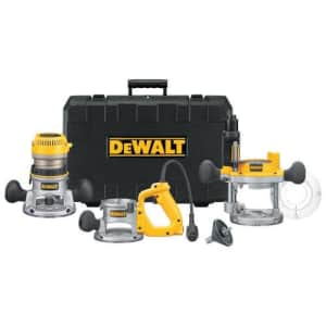 DeWalt 12A 2.25HP Plunge Base and Fixed Base for $371