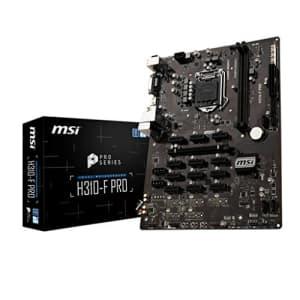 MSI Pro Series Intel Coffee Lake H310 LGA 1151 BTC ETH LTC Crypto Mining ATX Motherboard (H310-F for $799