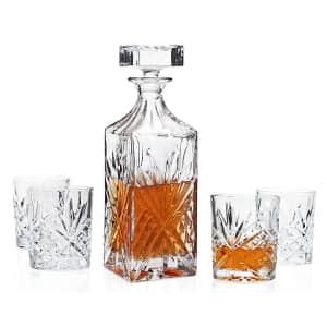 Godinger Dublin 5-Piece Whiskey Set for $21