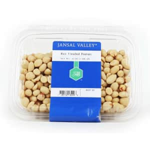 Jansal Valley 1-lb. Raw Unsalted Peanuts for $3