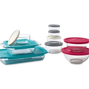 Pyrex 18-Piece Glass Food Storage Set for $36