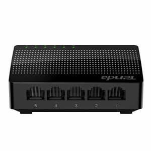 Tenda 5 Port Gigabit Ethernet Network Switch | Ethernet Splitter | Plug-and-Play | Traffic for $11