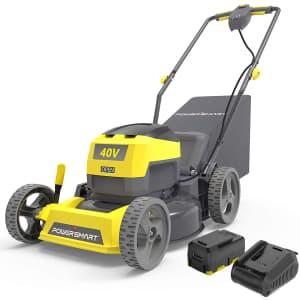 """PowerSmart 17"""" 40V Cordless Lawn Mower for $190"""