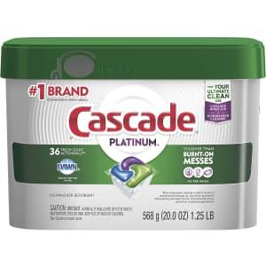 Cascade Platinum Dishwasher Pods 36-Ct. Tub for $11