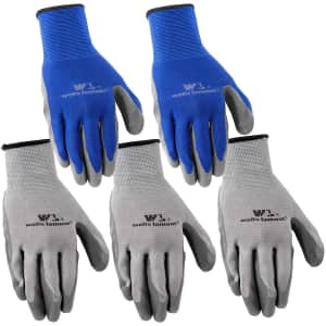 Wells Lamont Large Nitrile Work Gloves 5-Pack for $5