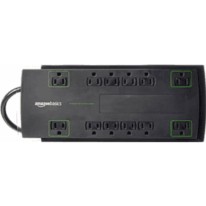 AmazonBasics 12-Outlet Power Strip Surge Protector: 8ft. for $13, 10ft. for $16 w/ Prime
