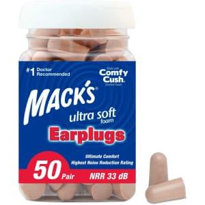 Mack's Ultra Soft Foam Earplugs 50-Pair Pack for $8.54 via Sub & Save
