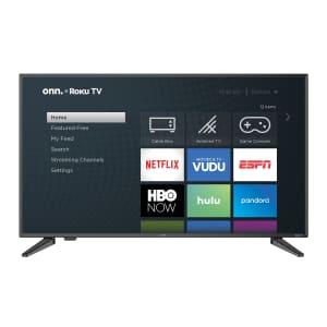 """Onn 40"""" 1080p Roku Smart LED HDTV for $98"""