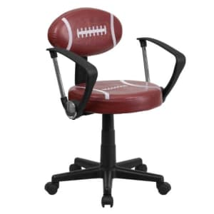 Flash Furniture Football Swivel Task Office Chair with Arms for $129