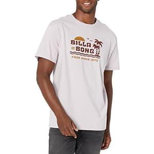 Billabong Men's Short Sleeve Premium Logo Graphic T-Shirt, Social Lounge Light Lavender, XX-Large for $19