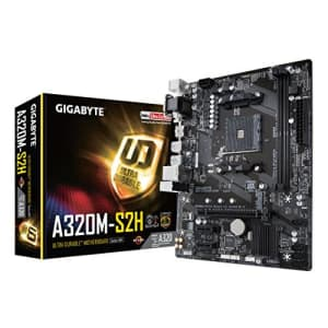 GIGABYTE GA-A320M-S2H (AMD Ryzen AM4/MicroATX/2xDDR4/HDMI/Realtek ALC887/3xPCIe/USB3.1 Gen for $67