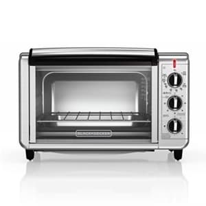 Black + Decker BLACK+DECKER TO3230SBD 6-Slice Convection Countertop Toaster Oven, Includes Bake Pan, Broil Rack & for $62