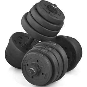 66-lb. Dumbbell Set for $59