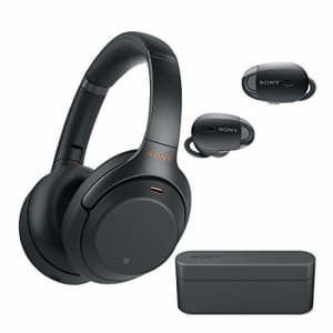 Sony WH-1000XM3 Wireless Noise-Canceling Over-Ear Headphones (Black) with Sony True Wireless Noise for $348