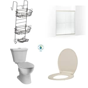 Toilets, Shower Doors, and Bath Hardware at Home Depot: Up to $150 off