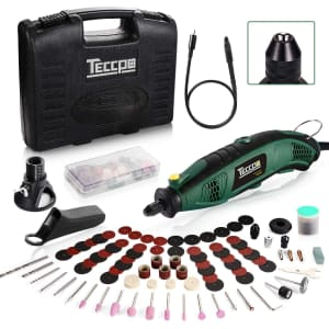 Teccpo Corded Rotary Tool Set for $50