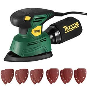 Mouse Detail Sander, TECCPO 14,000 OPM Compact Electric Sander with 12Pcs Sandpapers, Efficient for $25