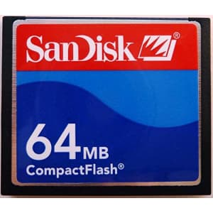 64MB Sandisk CF (Compact Flash) Card SDCFB-64 or SDCFJ-64 (CAZ) for $25