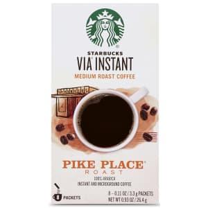 Starbucks VIA Instant Coffee Medium Roast 8-Pack for $5.11 via Sub & Save