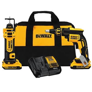 DEWALT 20V MAX XR Drywall Screw Gun & Cut-out Tool Combo Kit (DCK263D2) for $255