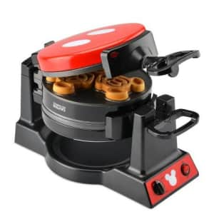 Disney Mickey Mouse Double Flip Waffle Maker for $48