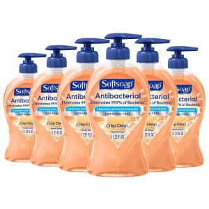 Softsoap 11oz. Antibacterial Liquid Hand Soap 6-Pack for $12